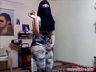 Arab young wives thither a hijab diminish for you