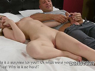 Excited light-complexioned mint Anna Palatka gives remarkable handjob