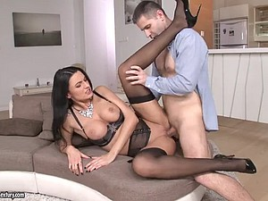 Ania Kinski Respecting Stockings Gets Pounded
