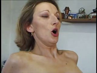 French MILF anal about stockings with an increment of heels.
